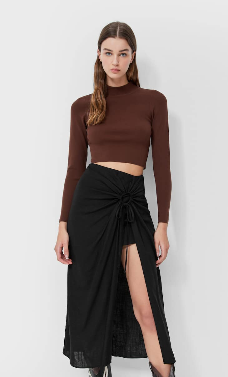 Rustic midi skirt