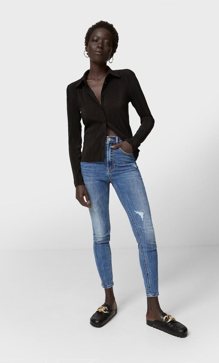 Regular Waist Skinny-Jeans