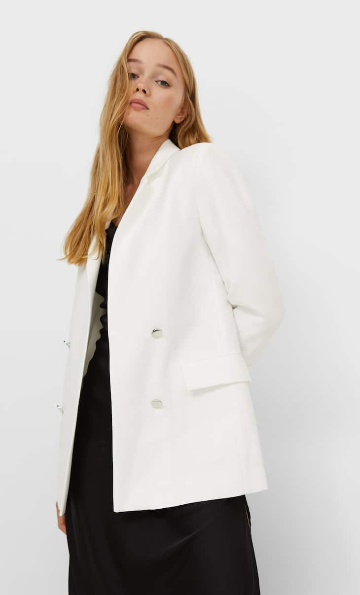 Open double-breasted blazer