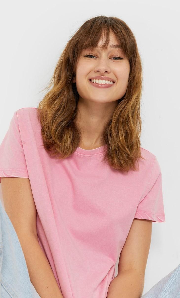 Short sleeve acid wash T-shirt