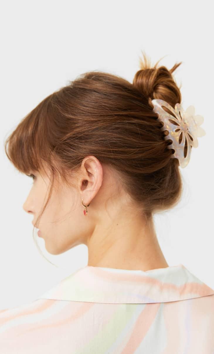 Haarklammer mit Blume