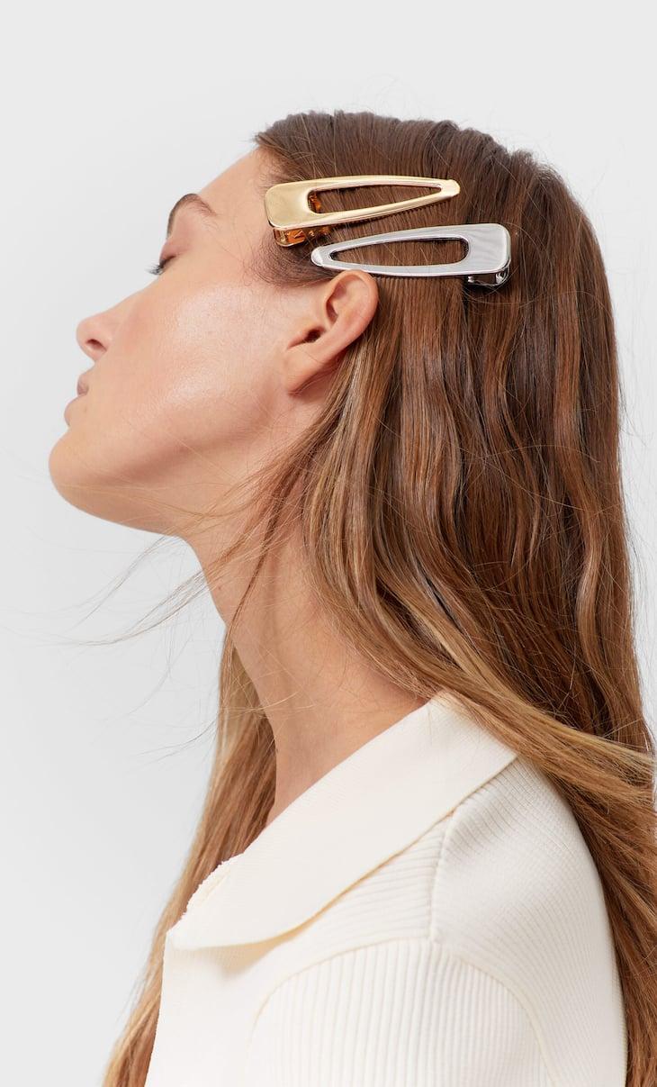 Doppelpack Haarclips aus Metall