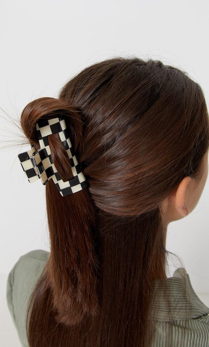 Chequered hair clip