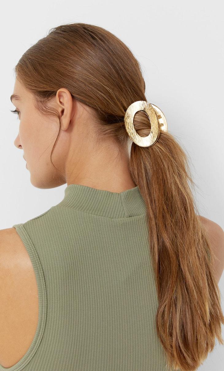 Oval hair clip