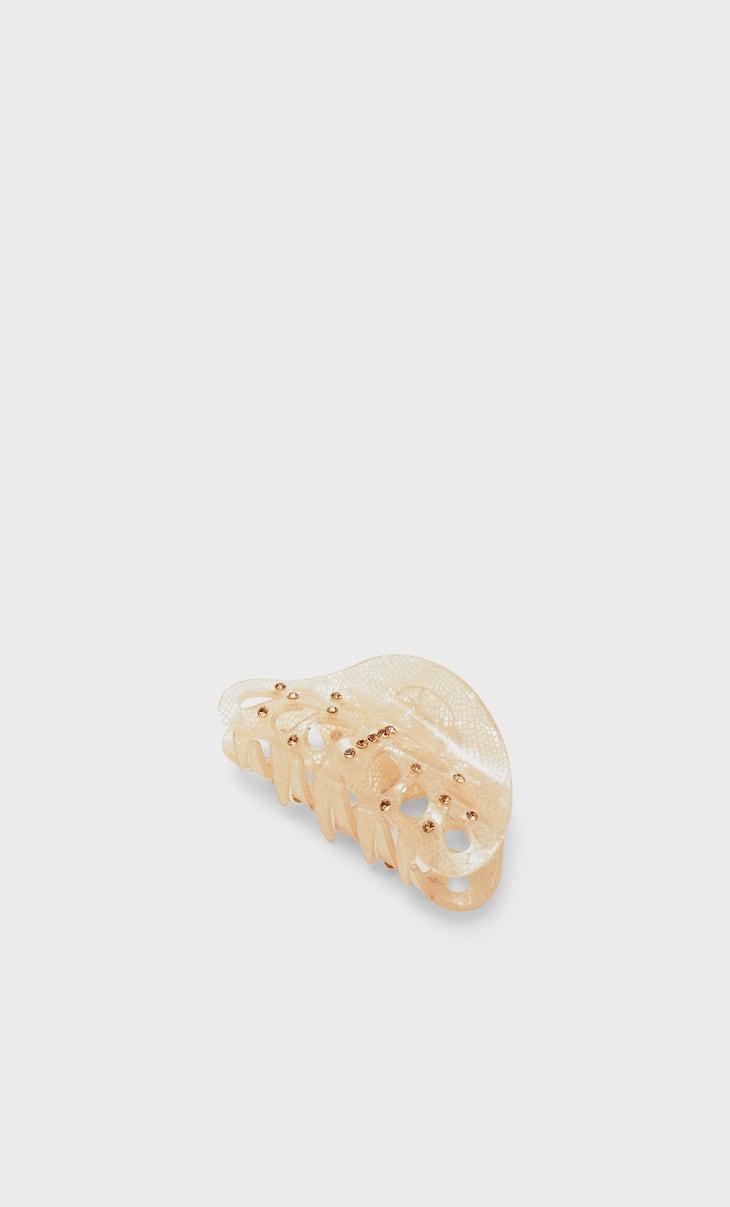 Acrylic hair clip with diamantés