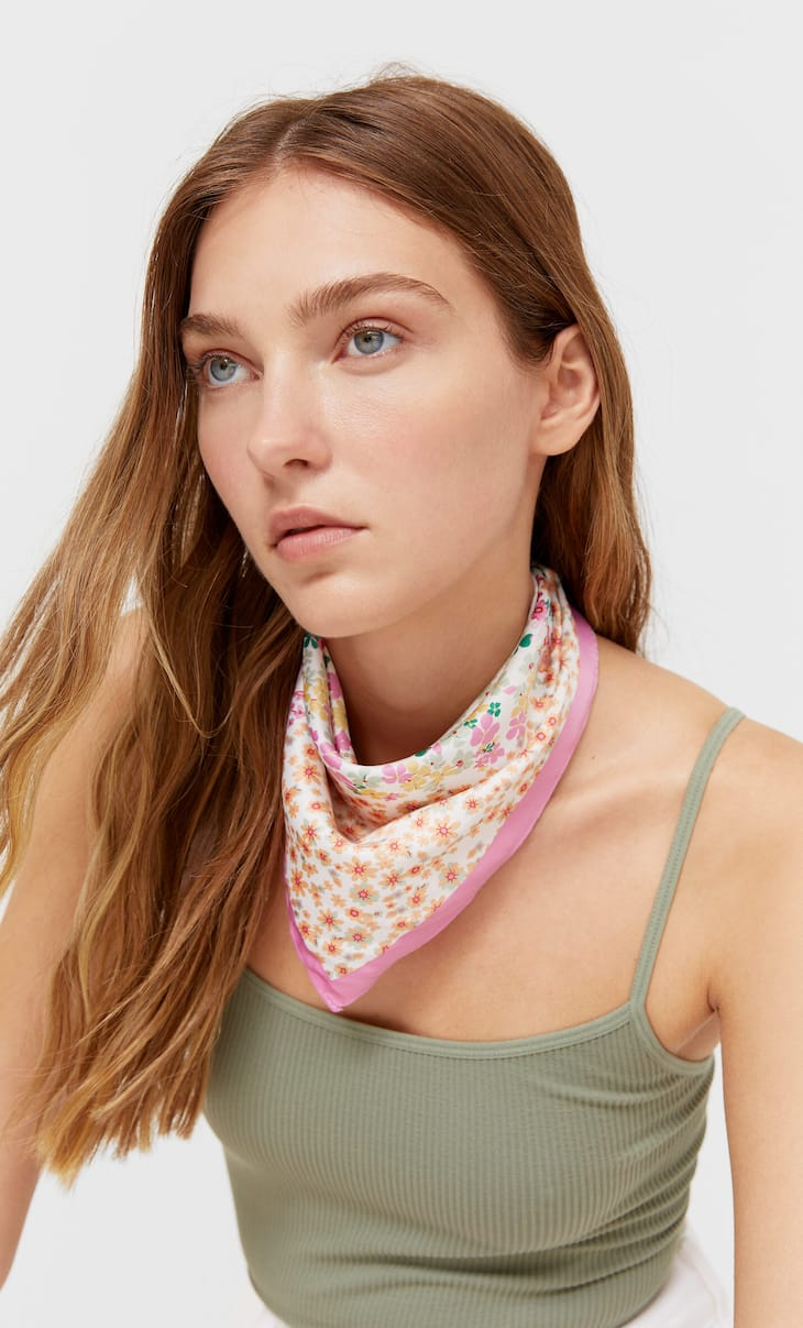2-pack of patchwork and arty stripe bandanas