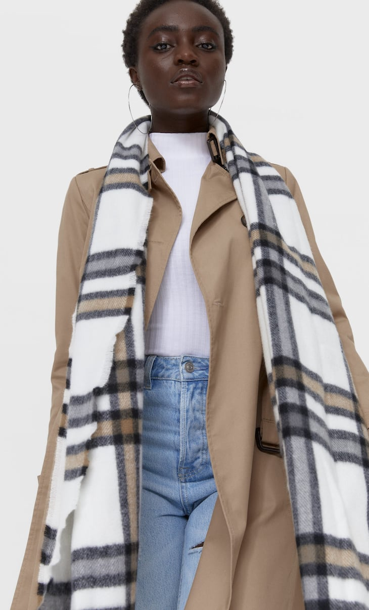 Checked scarf