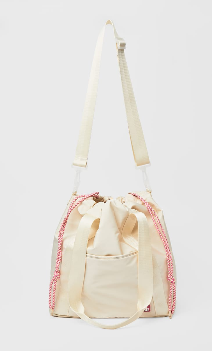 Fabric sporty tote bag