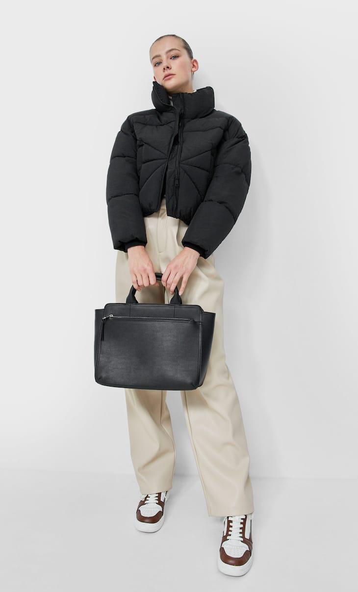Чанта тип пазарска с цип