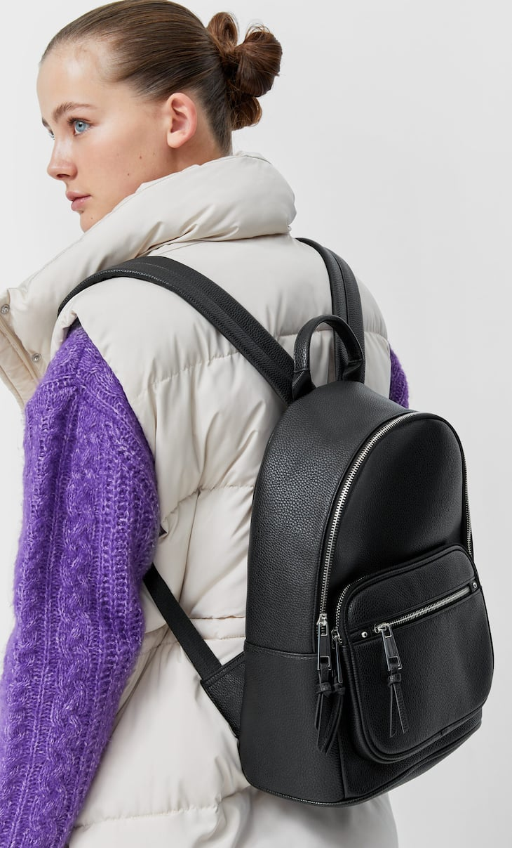 Backpack with zip pocket