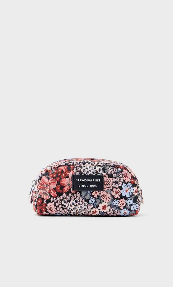 Floral fabric toiletry bag