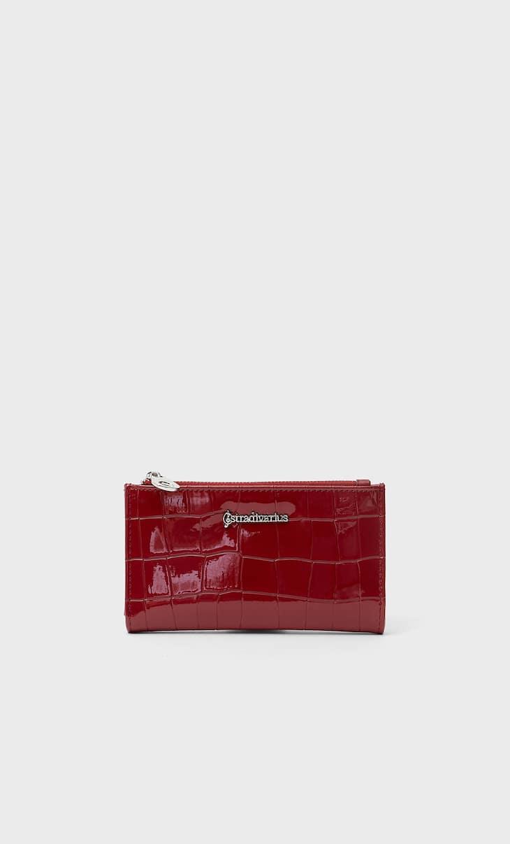 Basic mock croc purse