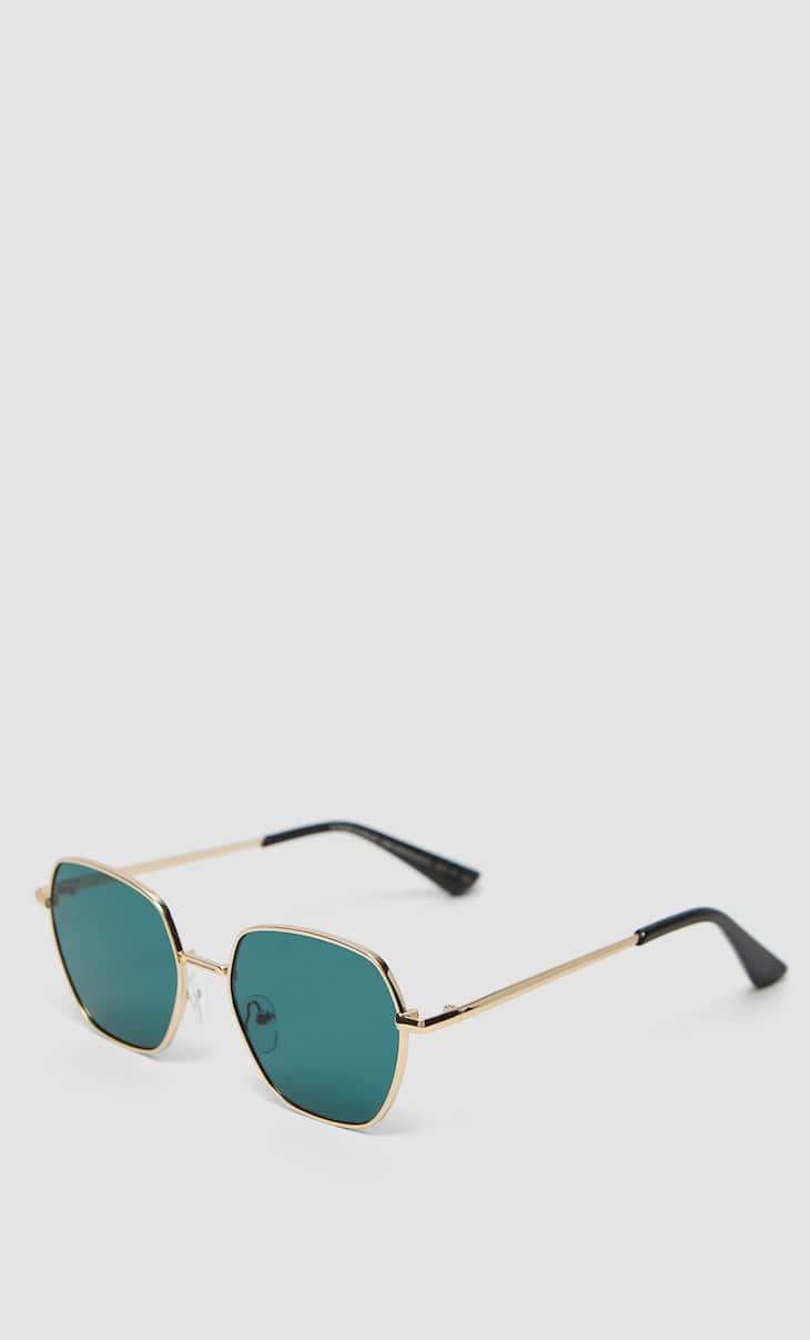 Hexagonal metal sunglasses