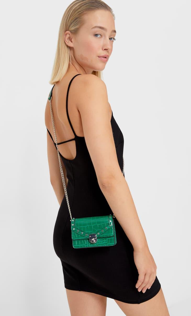Малка чанта с дълга дръжка и верижка