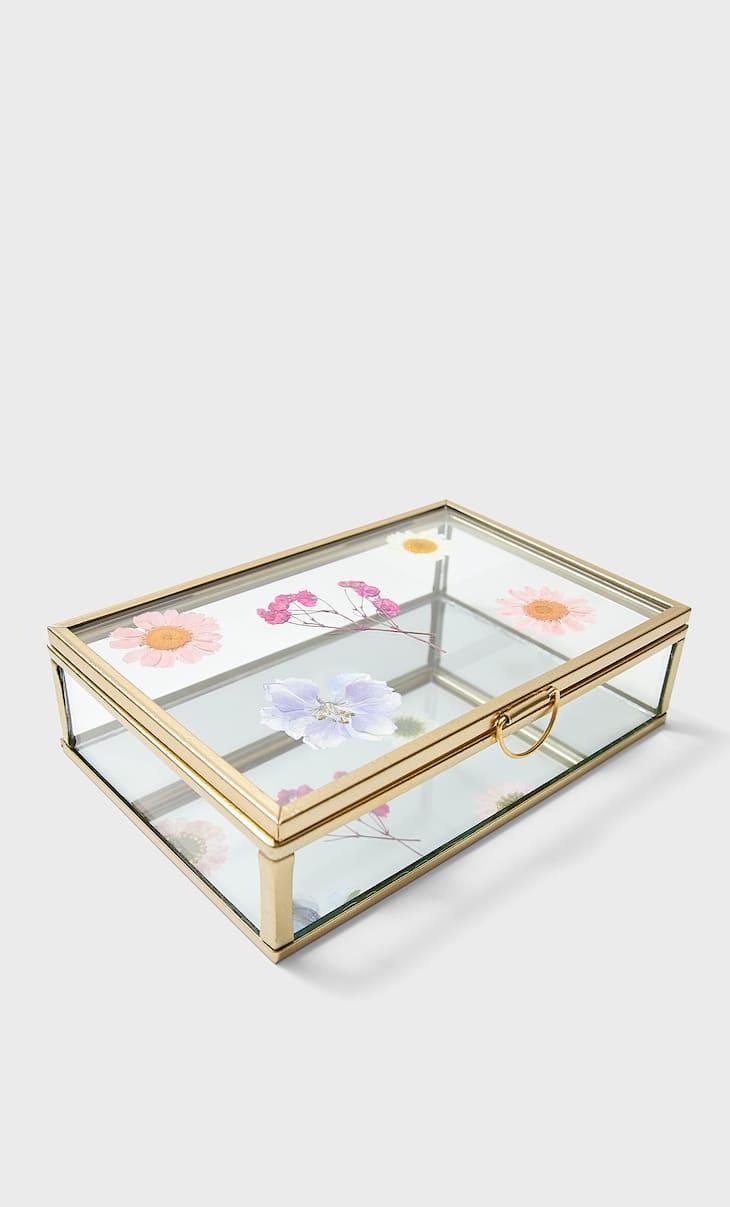 Floral crystal box