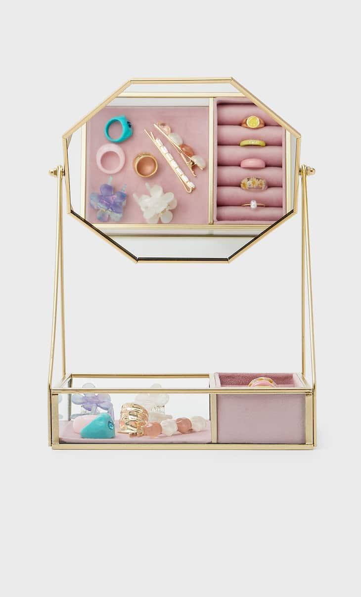Jewellery hanger mirror