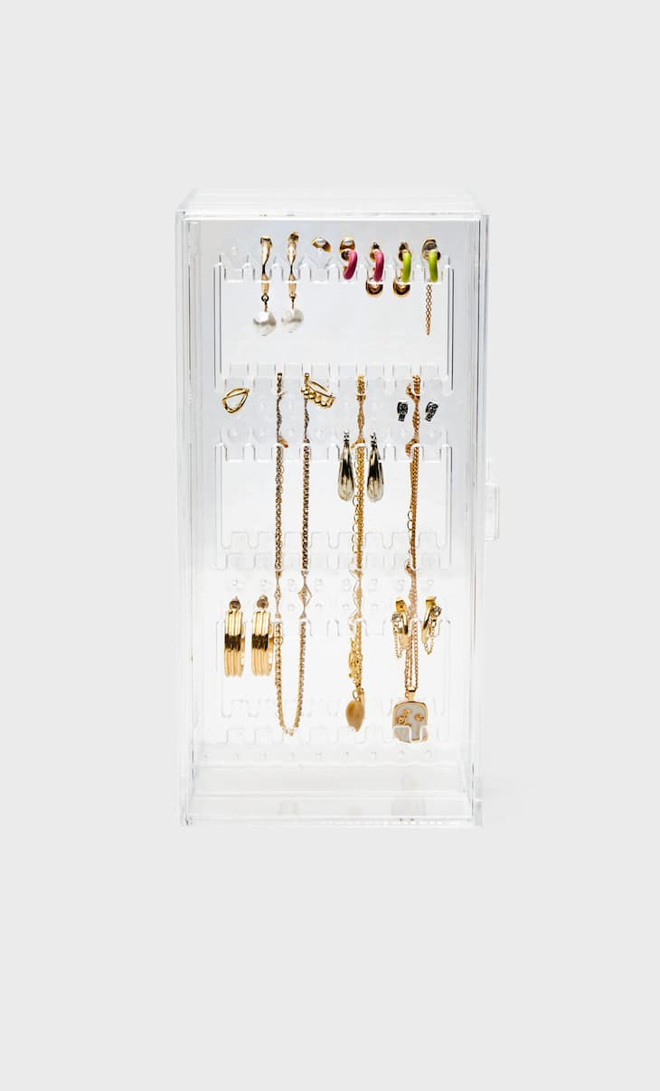 Vertical jewellery box with drawers
