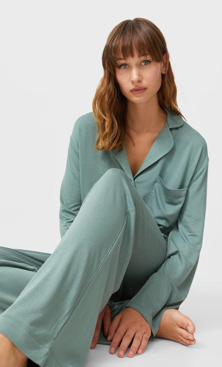 Knit pyjama trousers
