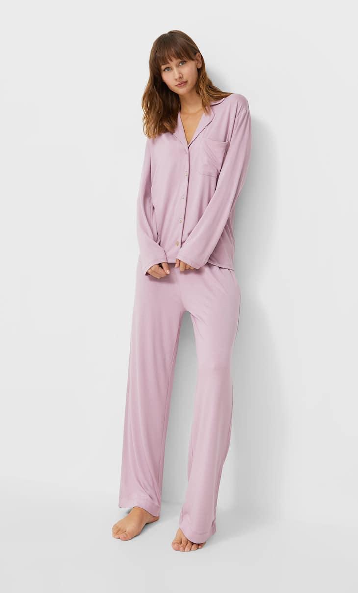 Трикотажные пижамные брюки