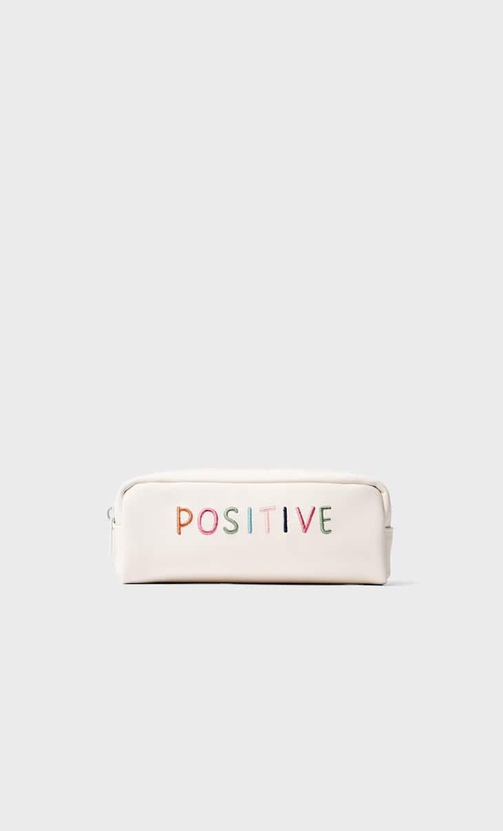 Estojo bordado positive