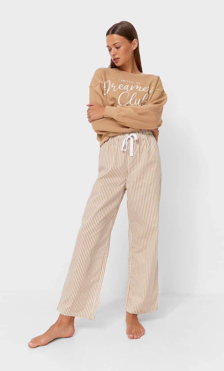 Poplin pyjama trousers