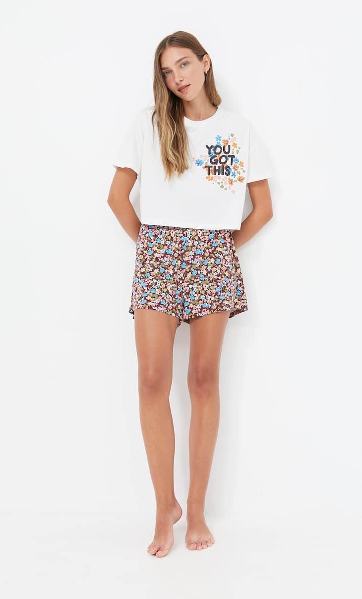 Cropped pyjama T-shirt