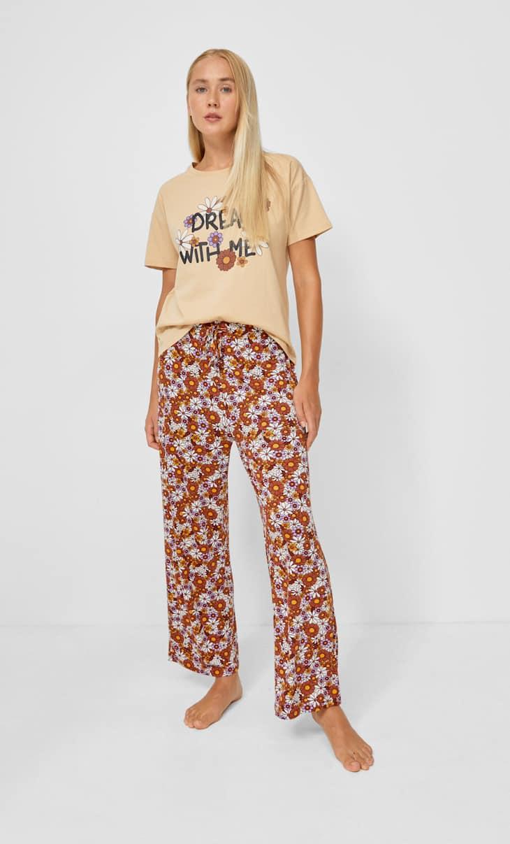 Printed pyjama trousers
