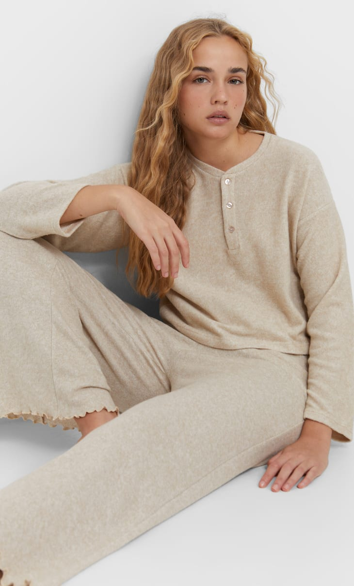 Soft-touch pyjama trousers