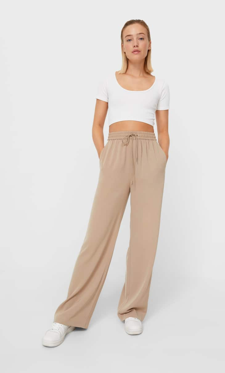 Smart trousers with side stripes
