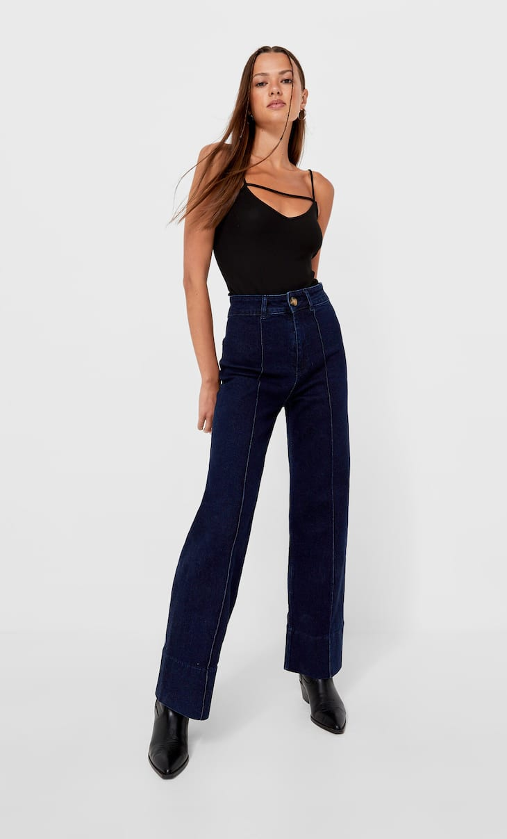 Full-length minimalist jeans