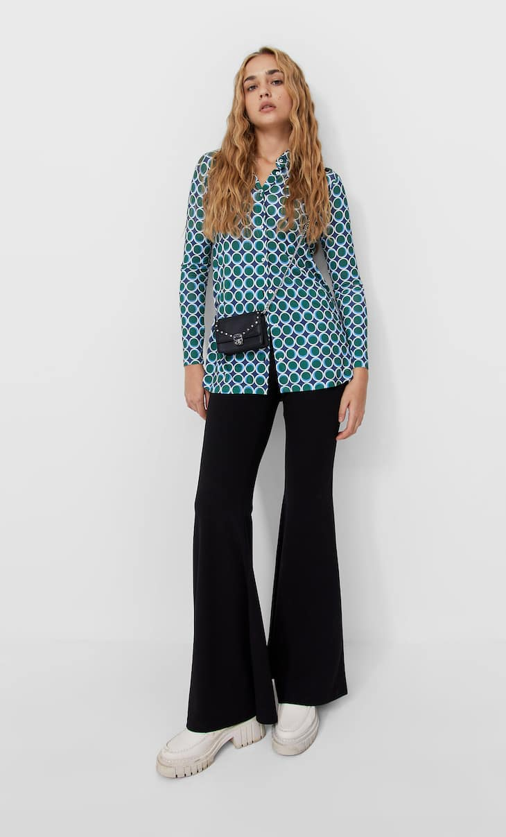 Celana panjang rajut model berkibar maksi