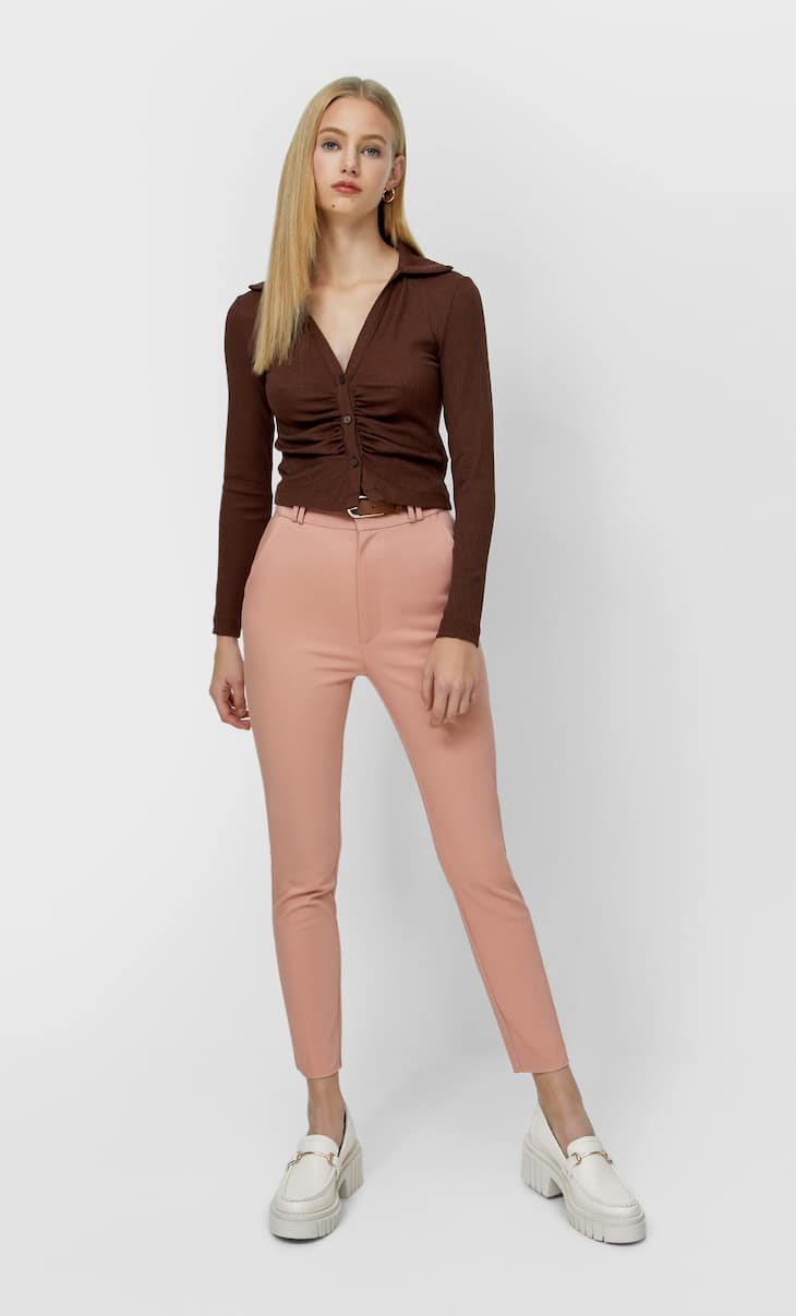 Smart trousers with belt