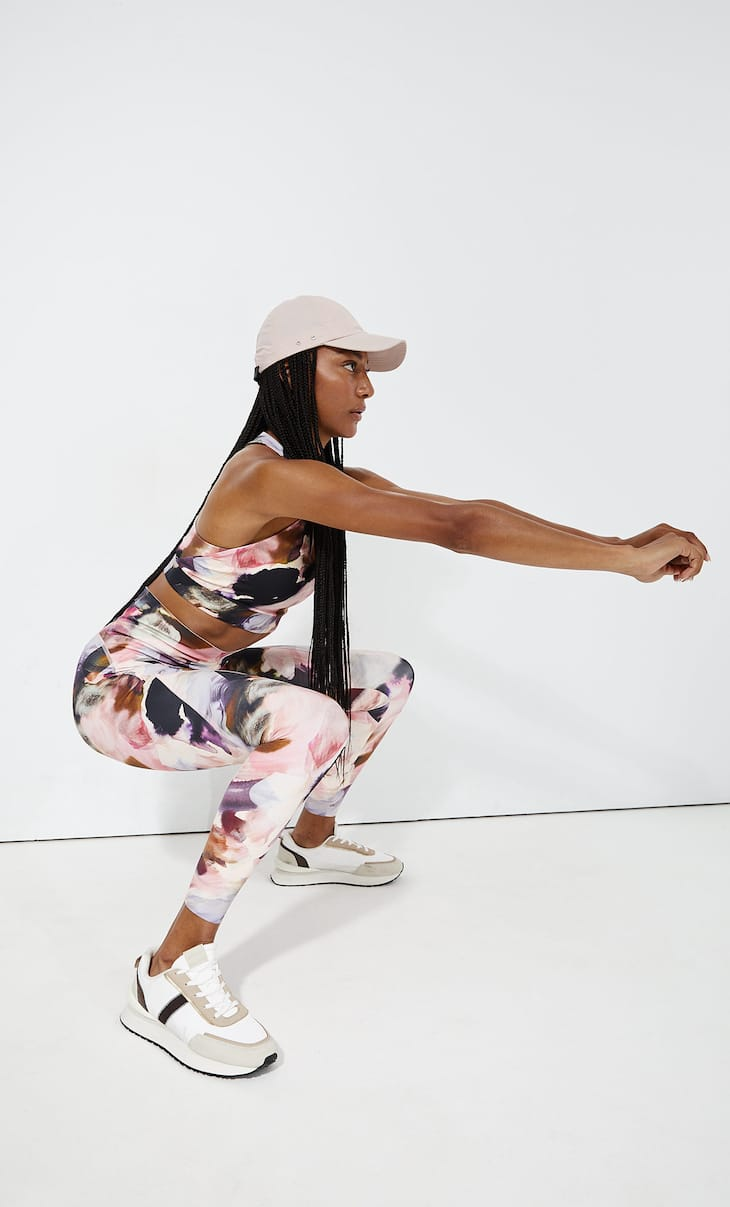 Compression sports leggings