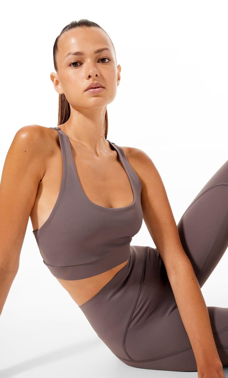 Compression sports bra