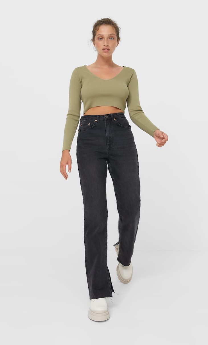 Straight fit comfort jeans