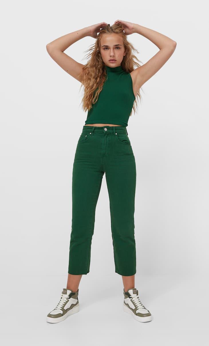 Jeans straight crop