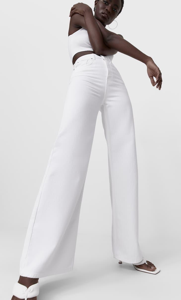 Colour super wide-leg jeans