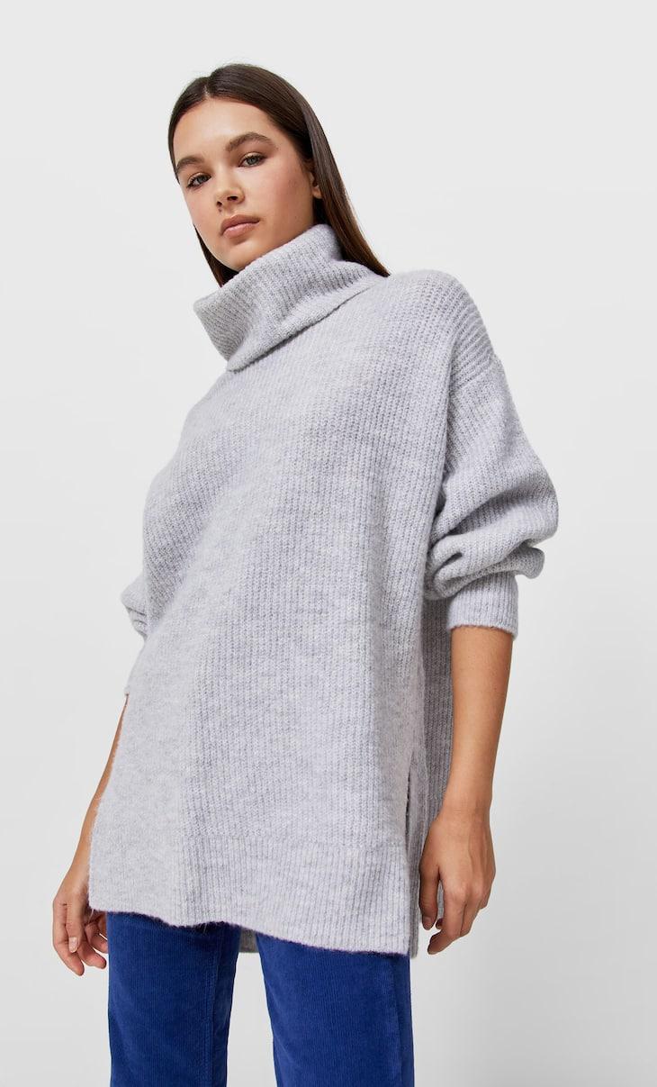 Oversized turtleneck sweater