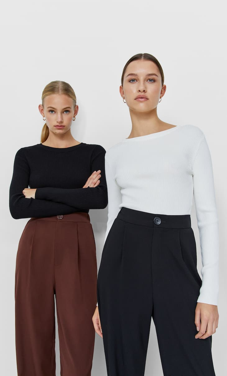 Pack of 2 round neck tops