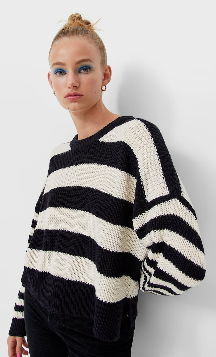 Slouchy knit jumper