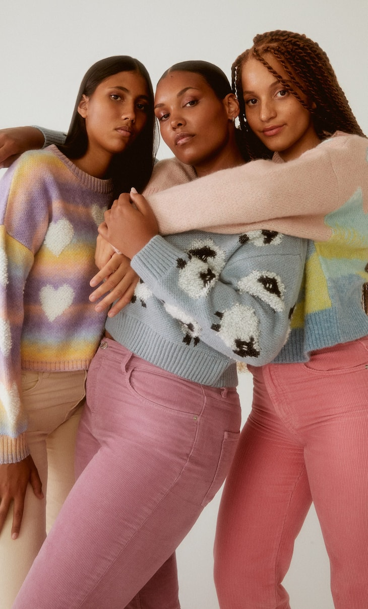 Funny knit sweater