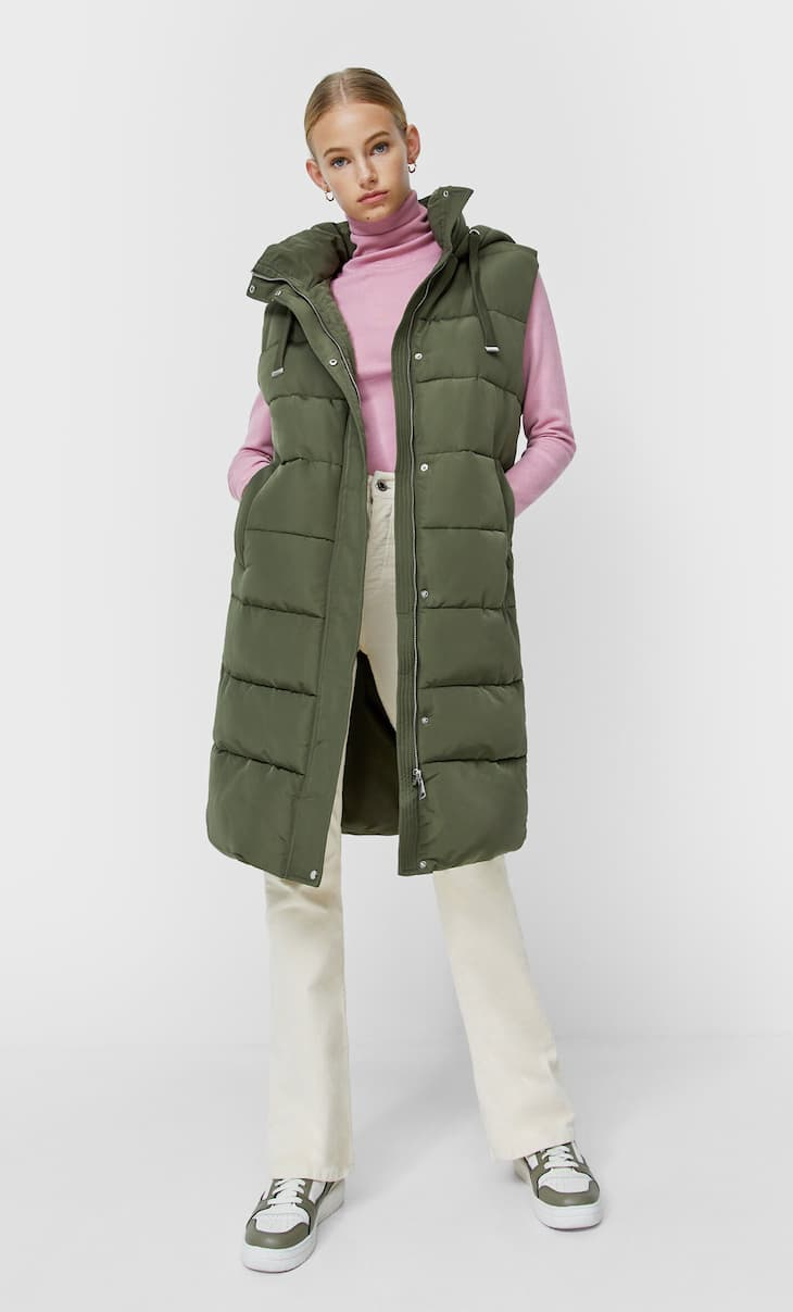 Long quilted gilet