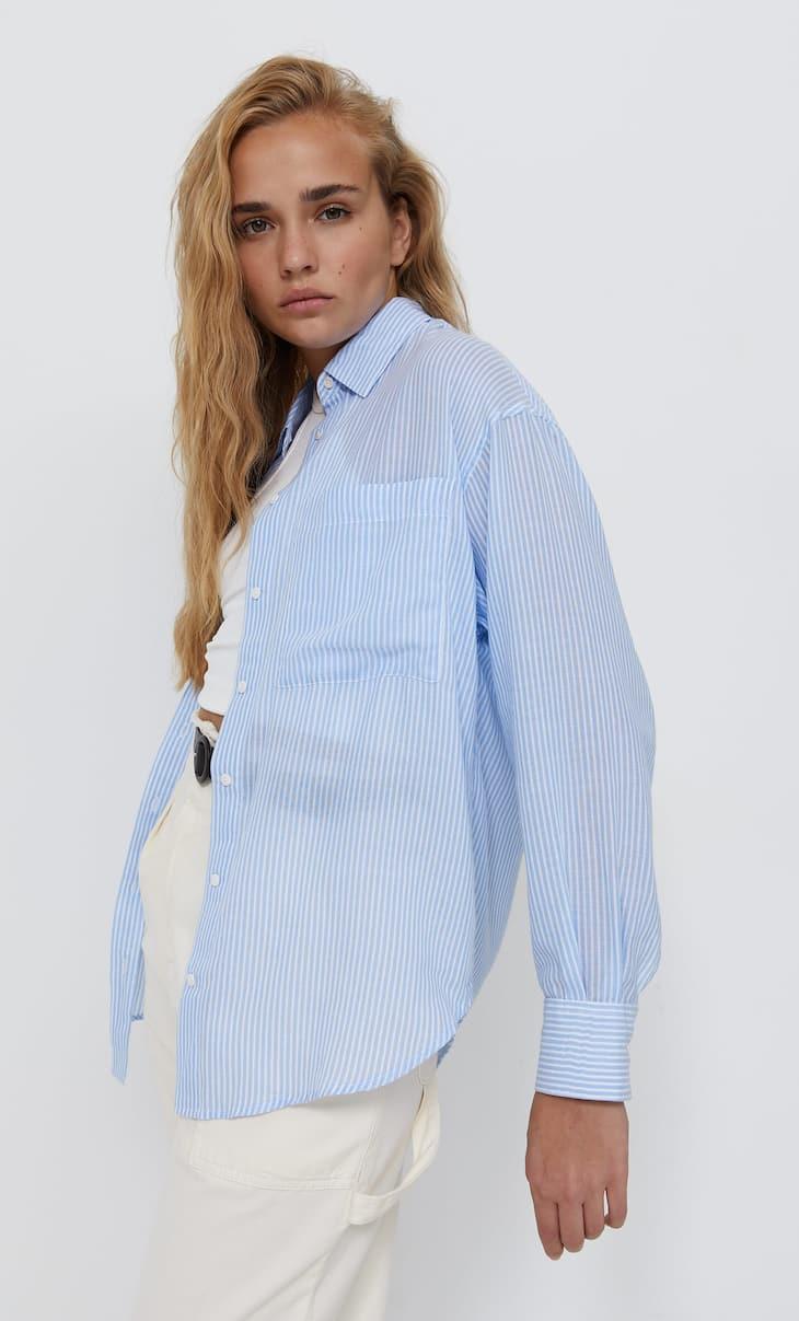 Striped straight shirt