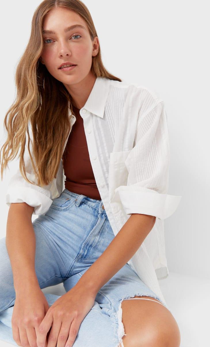 Koszula o prostym kroju w paski