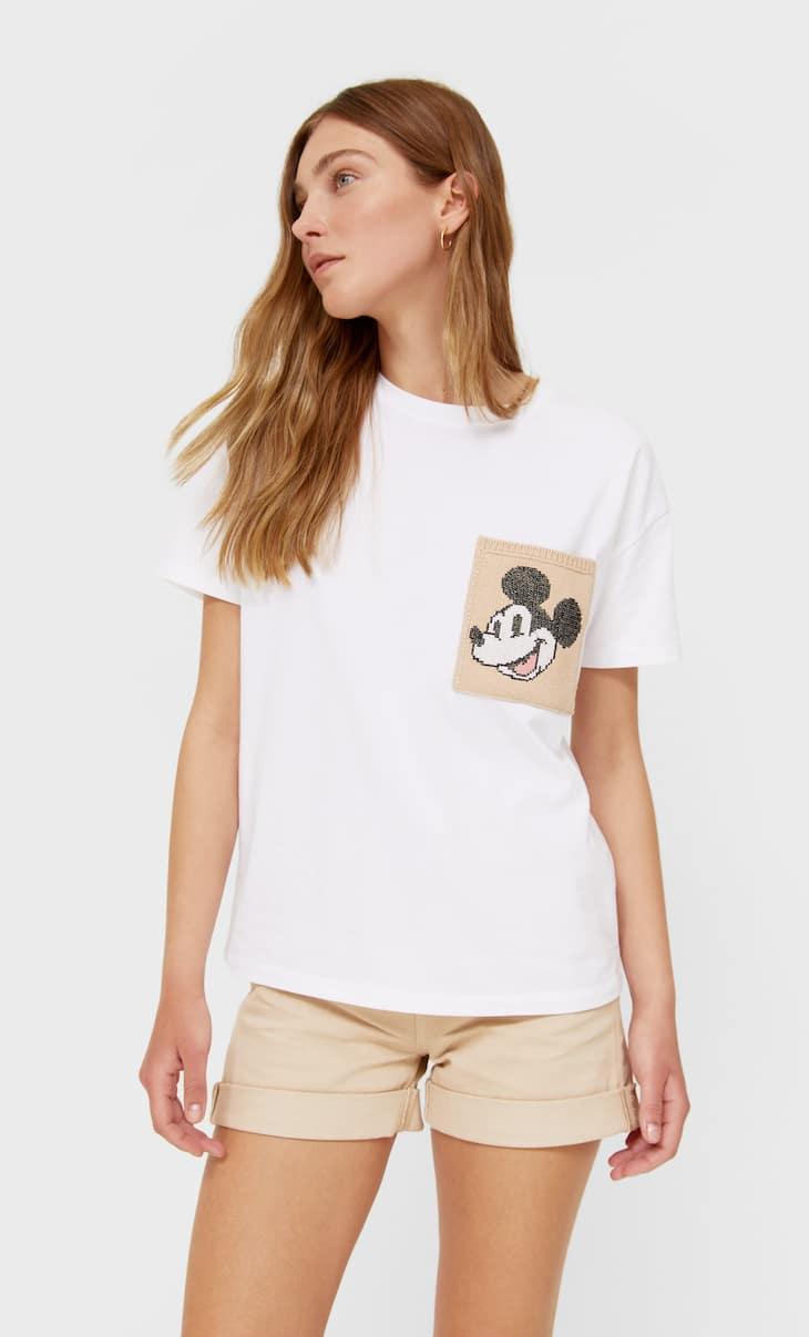 Shirt mit Mickey und Tasche