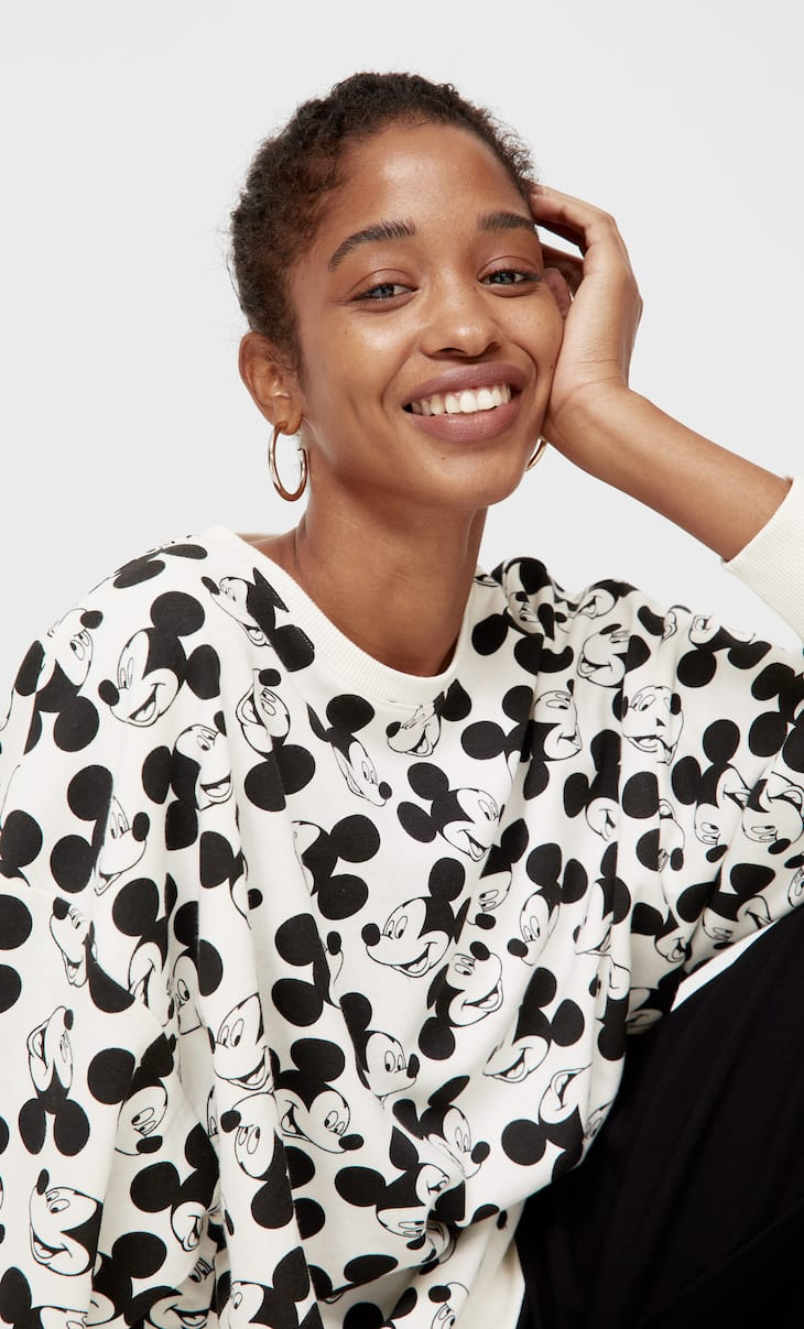 Mickey Mouse print hoodie