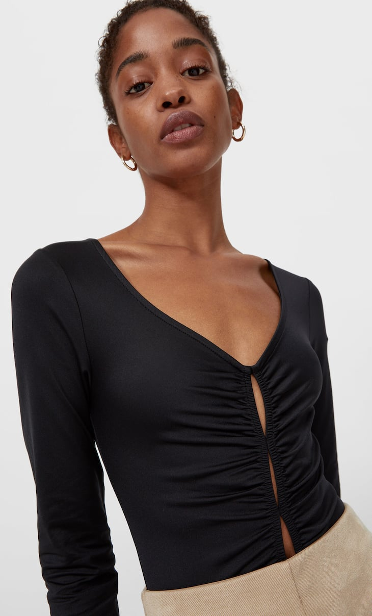 Bodysuit with cut-out detail