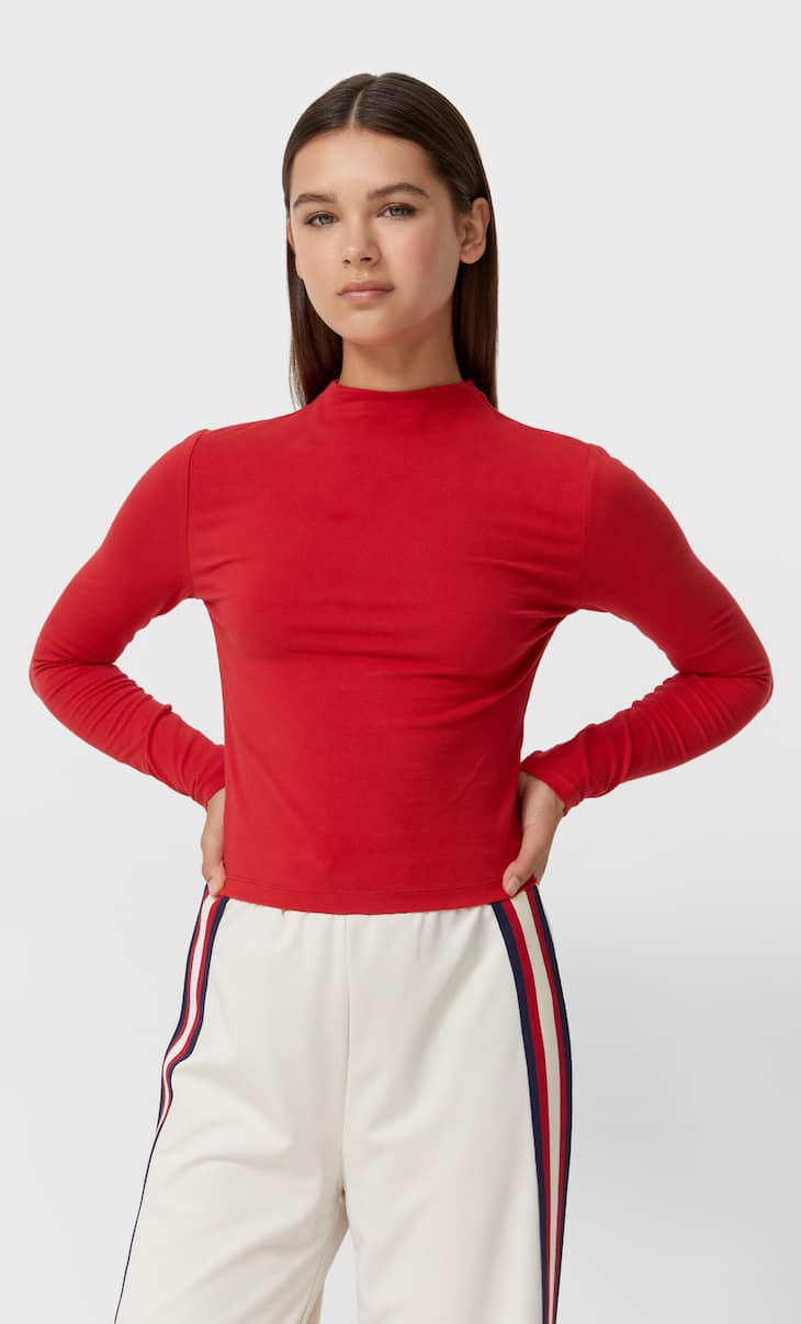 Soft-touch turtleneck