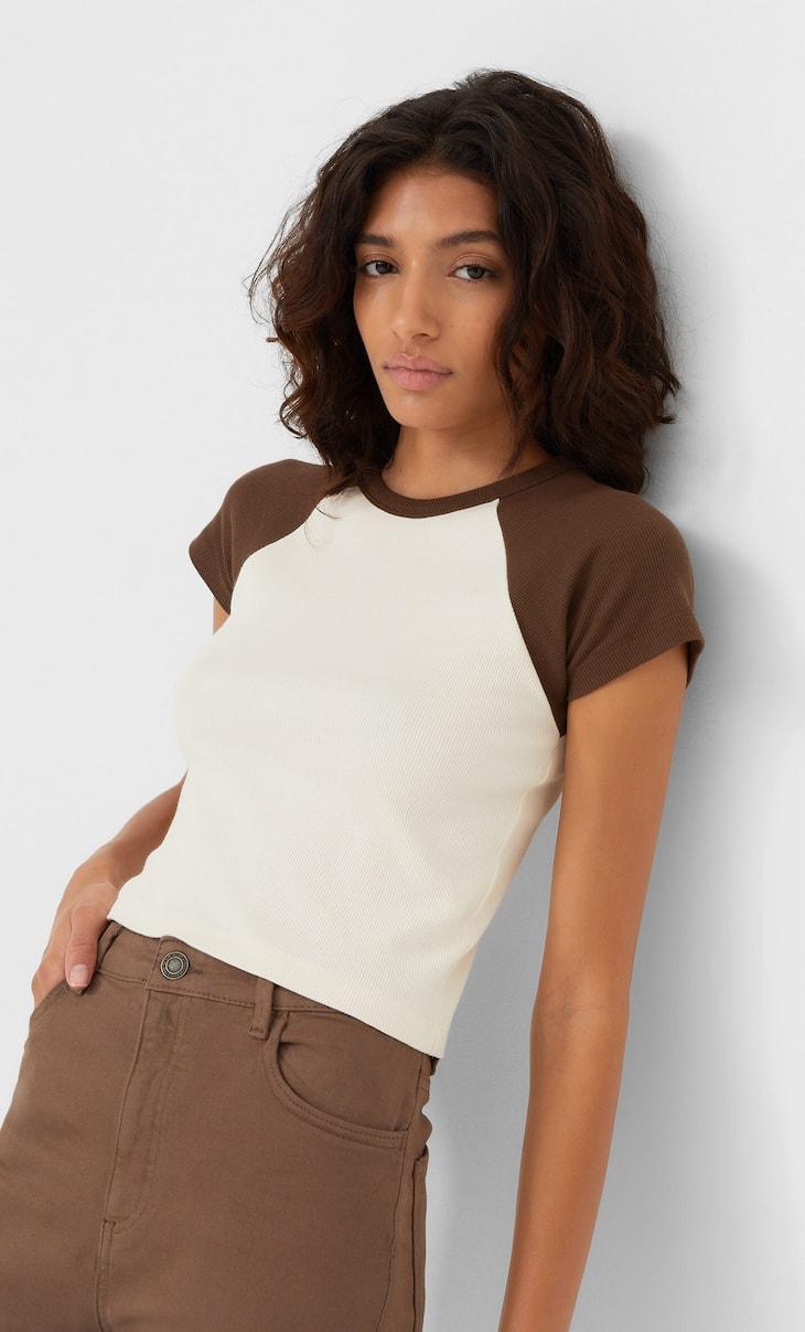 Camiseta manga contraste