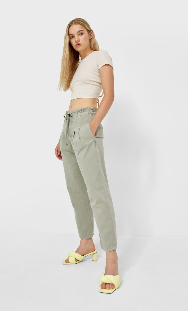 Darted baggy trousers